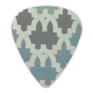 Azulejos tiles from the throne of the Sultans Acetal Guitar Pick