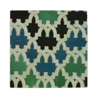 Azulejos tiles from the throne of the Sultans Wood Coaster