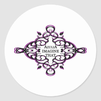 Azulia Imagine That (vine) Classic Round Sticker
