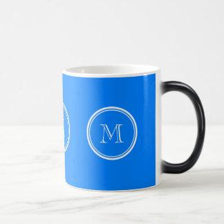 Azur High End Colored Monogram Initial Morphing Mug