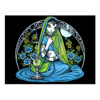 """Azura"" Hindi Flower Hookah Princess Fae Postcard"