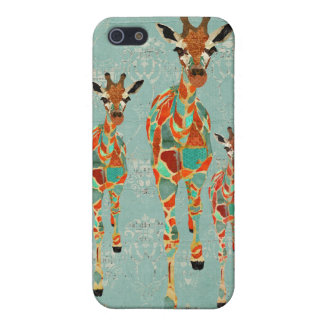 Azure & Amber Giraffes i iPhone 5 Cases
