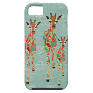 Azure & Amber Giraffes iPhone Case