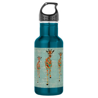 Azure & Amber Giraffes Liberty Bottle 532 Ml Water Bottle