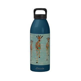 Azure Amber Giraffes Liberty Bottle Water Bottles