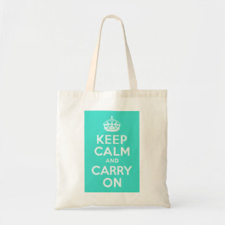 Azure and Turquoise Keep Calm and Carry On