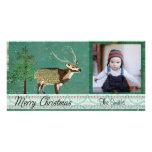 Azure Axis Deer Christmas  Photo Card