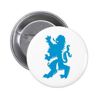Azure Bavarian Lion Pinback Buttons