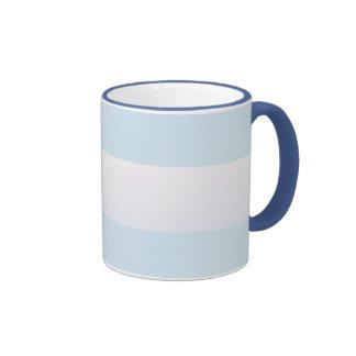 Azure Beach Stripe Ringer Coffee Mug