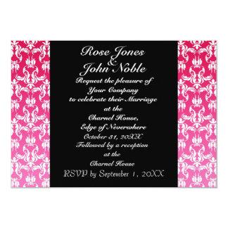 Azure Black (Magenta) Wedding Invitation