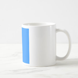 Azure Blue Basic White Mug
