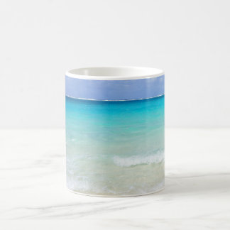 Azure Blue Caribbean Tropical Beach Basic White Mug