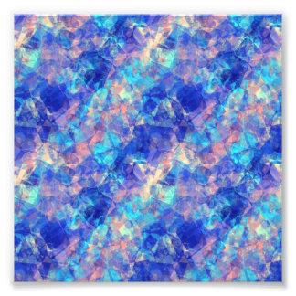 Azure Blue Crumpled Texture Photo Art