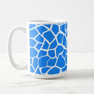 Azure Blue Giraffe Animal Print Classic White Coffee Mug