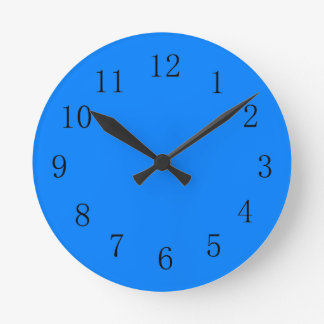 Azure Blue Kitchen Wall Clock