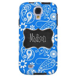 Azure Blue Paisley; Floral; Chalkboard Galaxy S4 Case