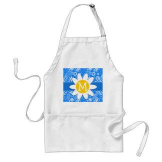 Azure Blue Paisley; Floral; Daisy Apron