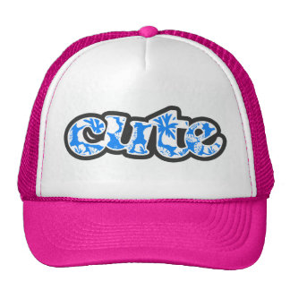 Azure Blue Tropical Hibiscus Hat