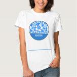 Azure Blue Tropical Hibiscus; Personalised Tee Shirt
