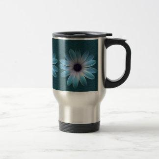 Azure Daisy on Dark Till Leather Print Mug