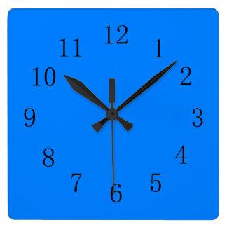 Azure Deep Ocean Blue Kitchen Wall Clock