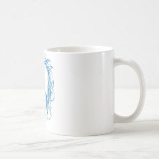 Azure Dragon Basic White Mug