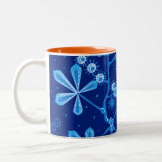 Azure Frost Flower Mug
