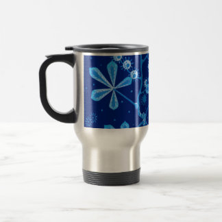 Azure Frost Flower Travel Mug