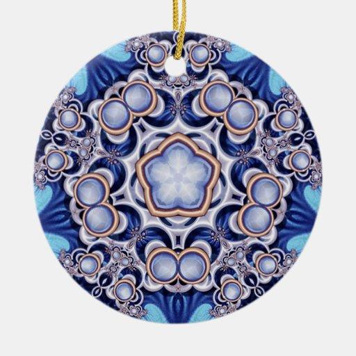 Azure Jewel Kaleidoscope Ornament