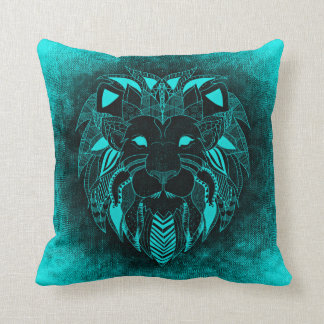 Azure Lion, Ornamental Lion Pillow
