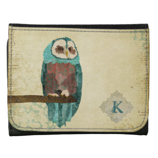 Azure Monogram Owl Wallet