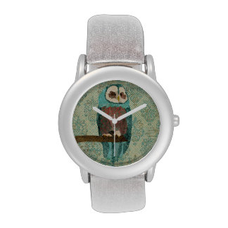 Azure Owl Damask Watch