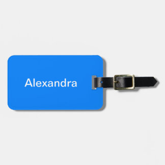 Azure Solid Color Customize It Luggage Tag