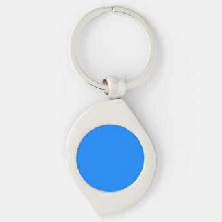 Azure Solid Color Keychains