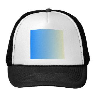 Azure to Cream Vertical Gradient Trucker Hat