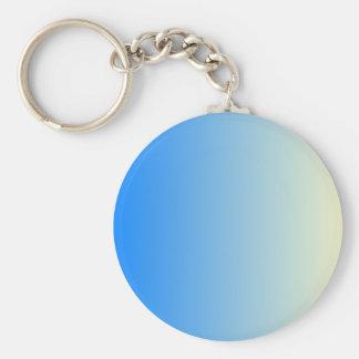 Azure to Cream Vertical Gradient Key Chains