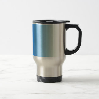 Azure to Cream Vertical Gradient Coffee Mug