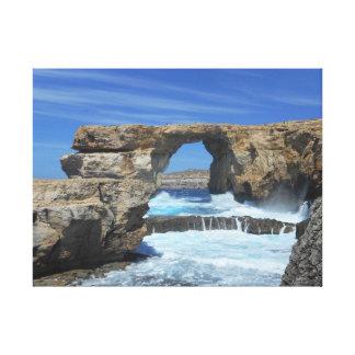 Azure Window - Gozo Canvas Print
