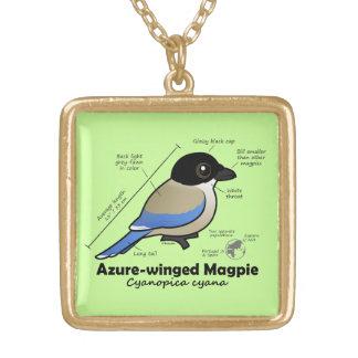 Azure-winged Magpie Statistics Pendant