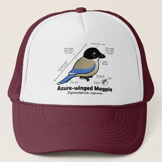 Azure-winged Magpie Statistics Trucker Hat