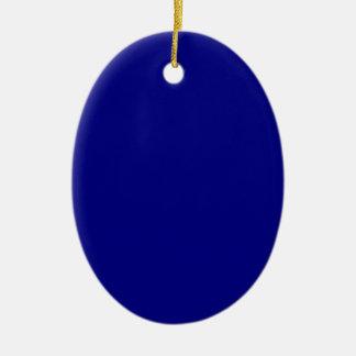 AZURITE (a solid rich blue color) ~ Ceramic Oval Decoration