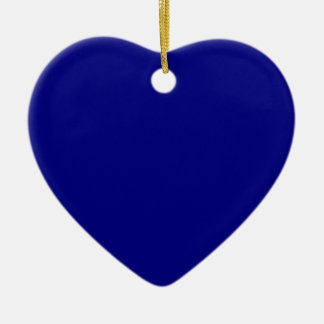 AZURITE (a solid rich blue color) ~ Ceramic Heart Decoration