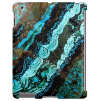 Azurite Malachite Gemstone iPad Case