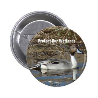 B0005 Pintail Duck Drake button