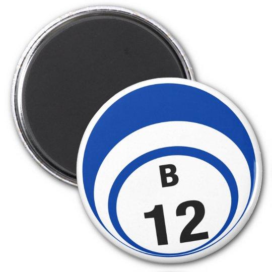 B12 bingo ball fridge magnet