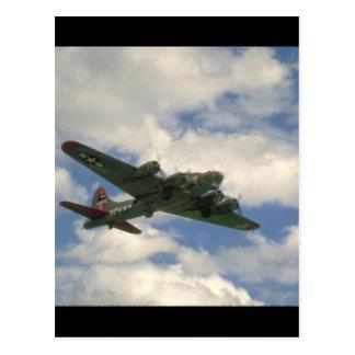 B17, Belly View. (plane;b17_WWII Planes Postcard
