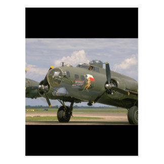 B17 Closeup, Front Left_WWII Planes Postcard