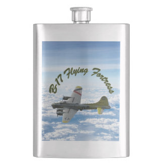 B17 Flying Fortress WWII Bomber Airplane Hip Flask