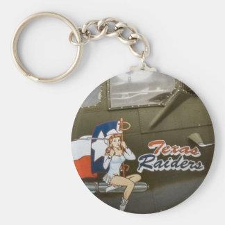 B17 Texas Raiders Nose Art Key Ring