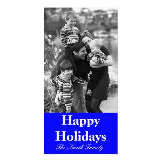 B21 Bouncy Bright Blue Color Customizable Customized Photo Card